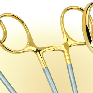 Gold dipped scissors