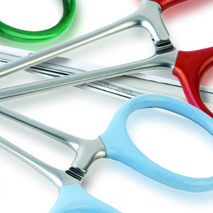 Colour coated scissors